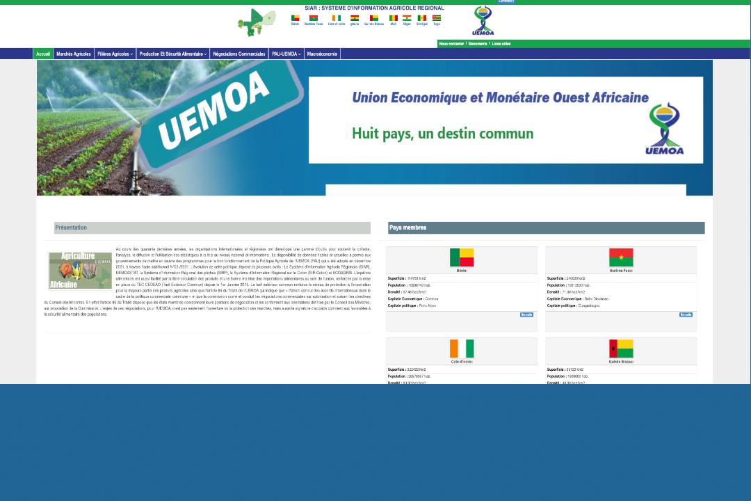 <strong>UEMOA : Étude pour l'opérationnalisation du système d'information agricole régional (SIAR)</strong>